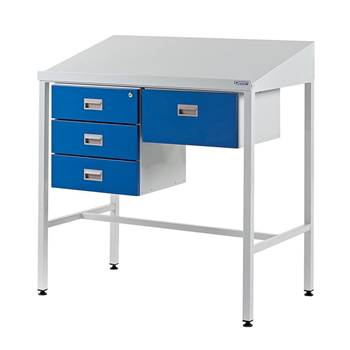 Team Leader Workstation with Triple Drawer Unit + Single Drawer