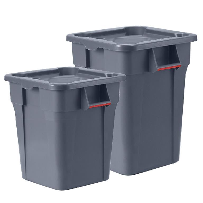 Heavy duty square waste container
