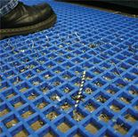 Interwoven pvc matting