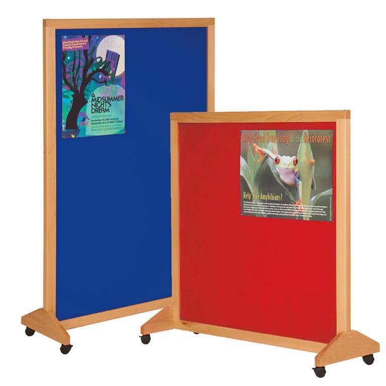 Wooden mobile notice board