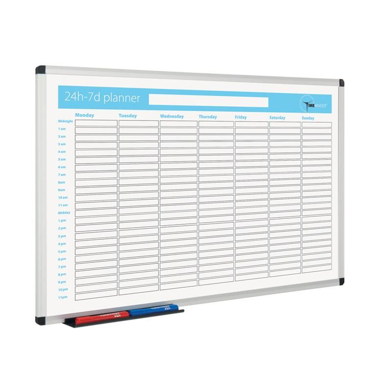 Timeminder® planning boards: 24h/7 days