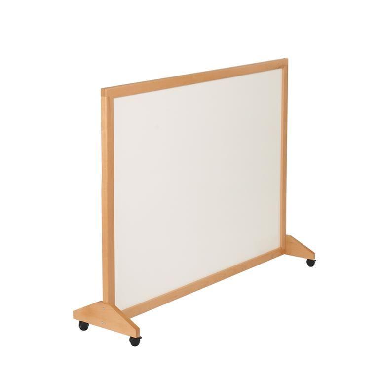 Wooden mobile whiteboard