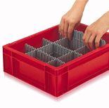 Dividing strips for Euro box