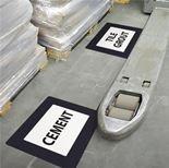 Self-adhesive floor frames