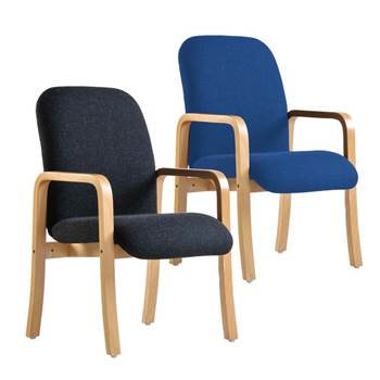 """Yealm"" reception chair: double arms"