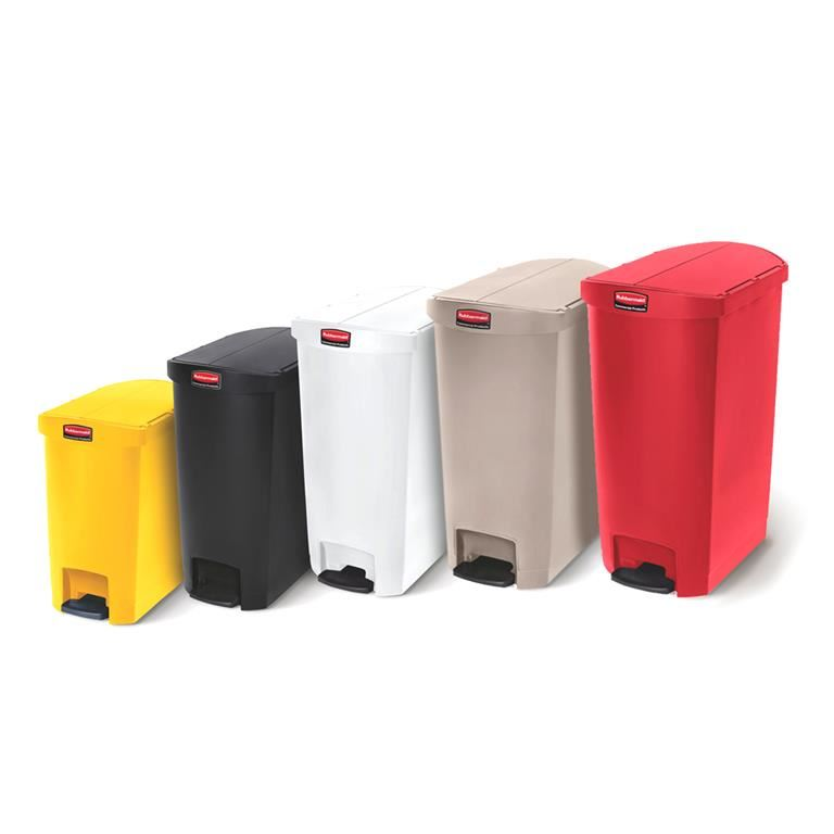 Slim-Jim® butterfly plastic step-on containers