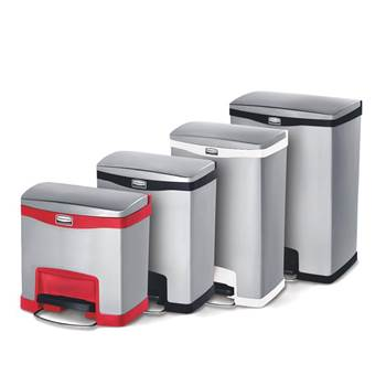 Slim-Jim® stainless step-on containers