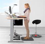 Höj- sänkbart skrivbord Flexus, rak skiva