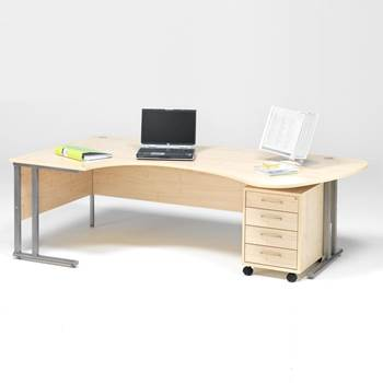 Package deal: executive desk + mobile pedestal