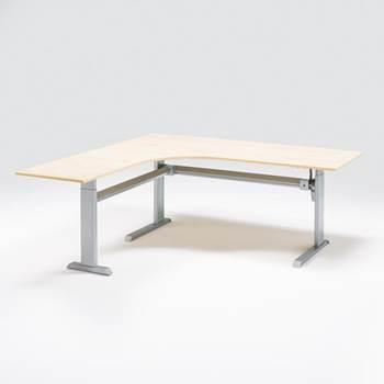 Flexus height adjustable desk, corner