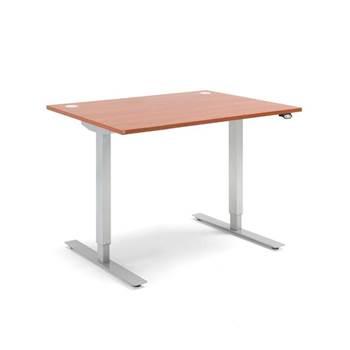 Výškovo nastaviteľný stôl Flexus, rovný, 1200x800 mm