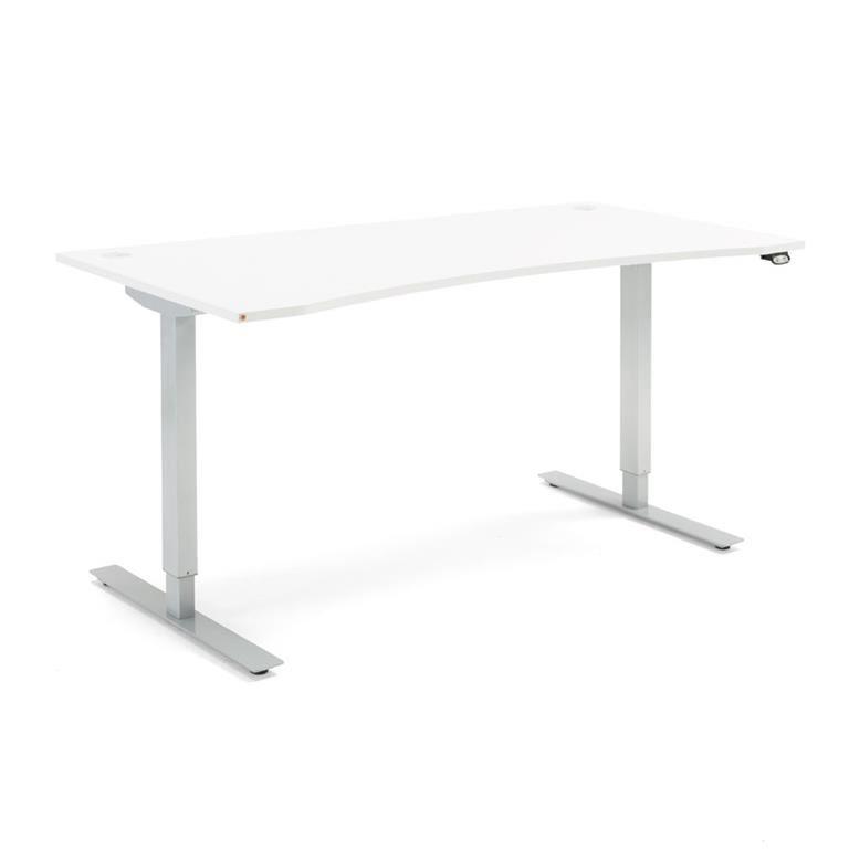 Skrivbord med maguttag - höj och sänkbara, Flexus, längd 1600 mm