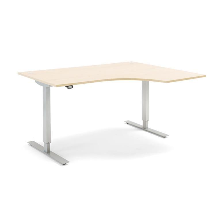 Hörnskrivbord - höj och sänkbara, Flexus, längd 1600 mm