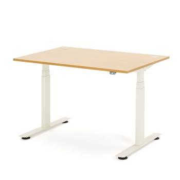 Hev- og senk skrivebord, rektangulær