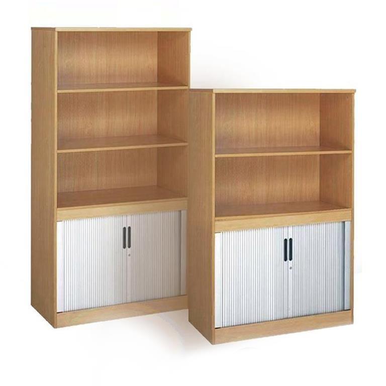 """Largo"" bookcase with tambour doors"