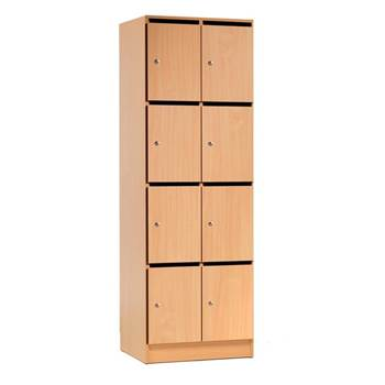 Post and storage cabinet