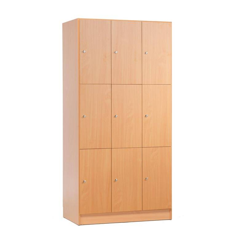 Wooden compartment locker