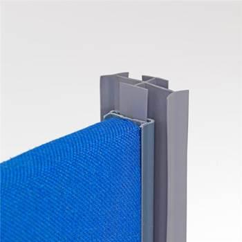 4 way linking strip for floor screen