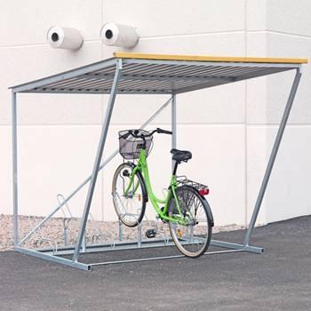 Sykkelstativ med tak