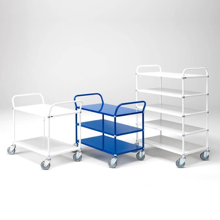 Metal shelf trolley