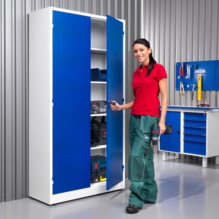 Colour storage cabinet: 4 shelves