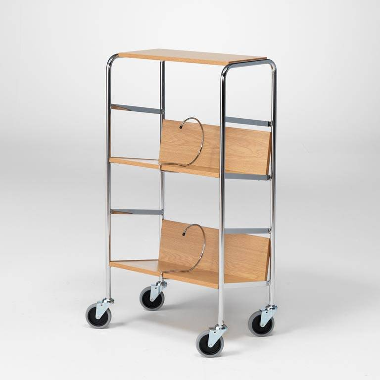 File trolley with top shelf: L 550 mm