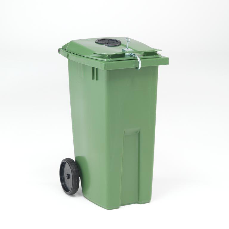 Kontener na odpadki z dodatkowym otworem wrzutowym