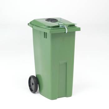 Lockable wheelie bin for cans / bottles