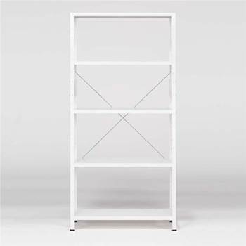 """Light"" shelving basic unit: 1970x950x300: white/white"