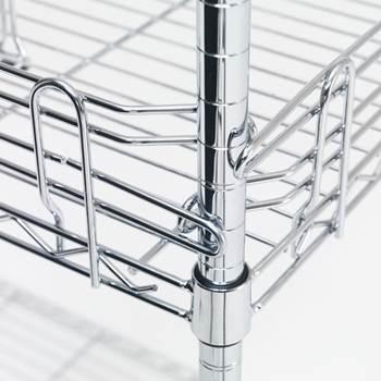 Edges to wire shelf