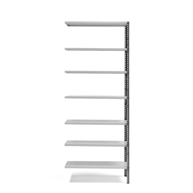 Lagerhylla Power, påbyggnadssektion, höjd 2500 mm, mörkgrå