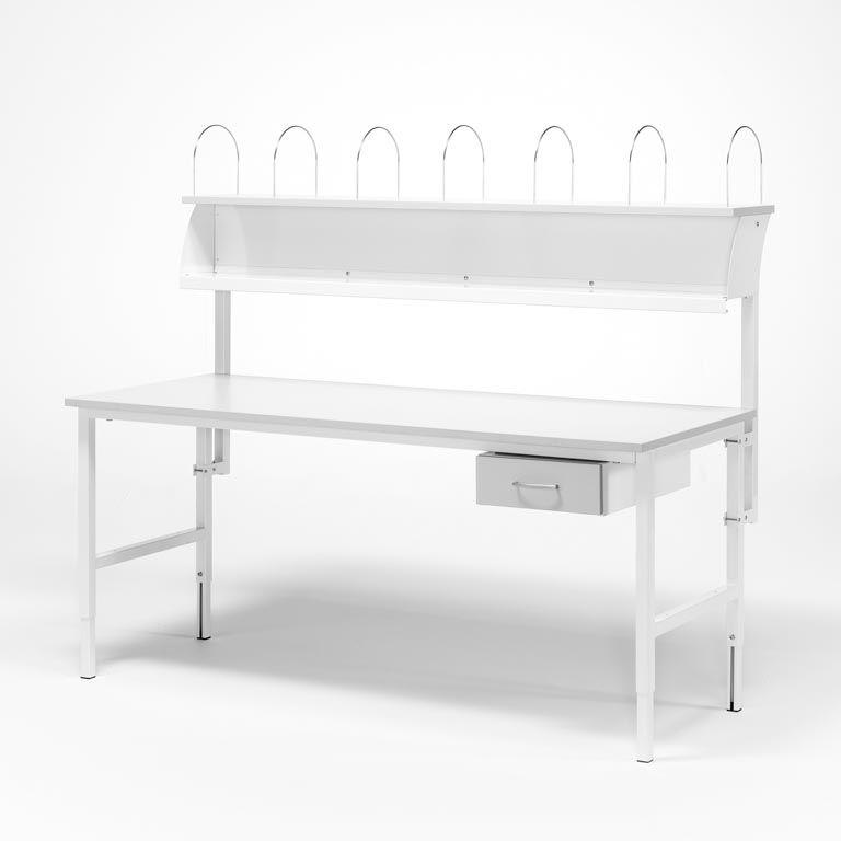 Zestaw roboczy stół + półka + szafka z szufladą