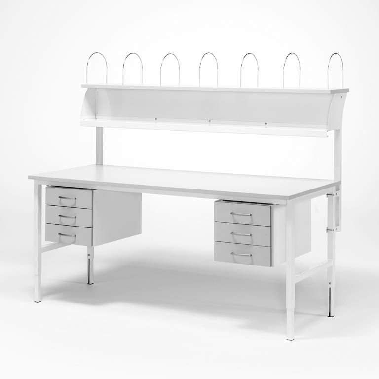 Worktable - Package price with 6 drawers + top shelf