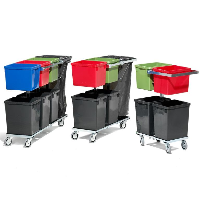 Recycling trolley with handle