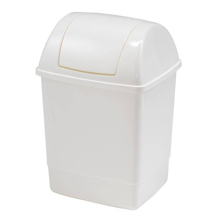 Papperskorg med vipplock, 12 / 26 liter