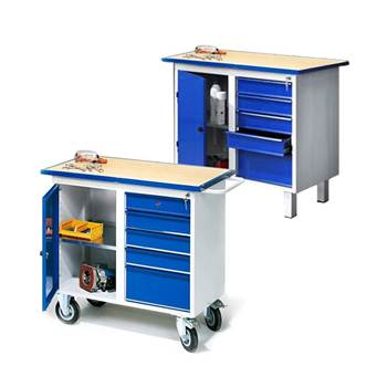 """Flex"" tool bench: 1 door + 5 drawers"