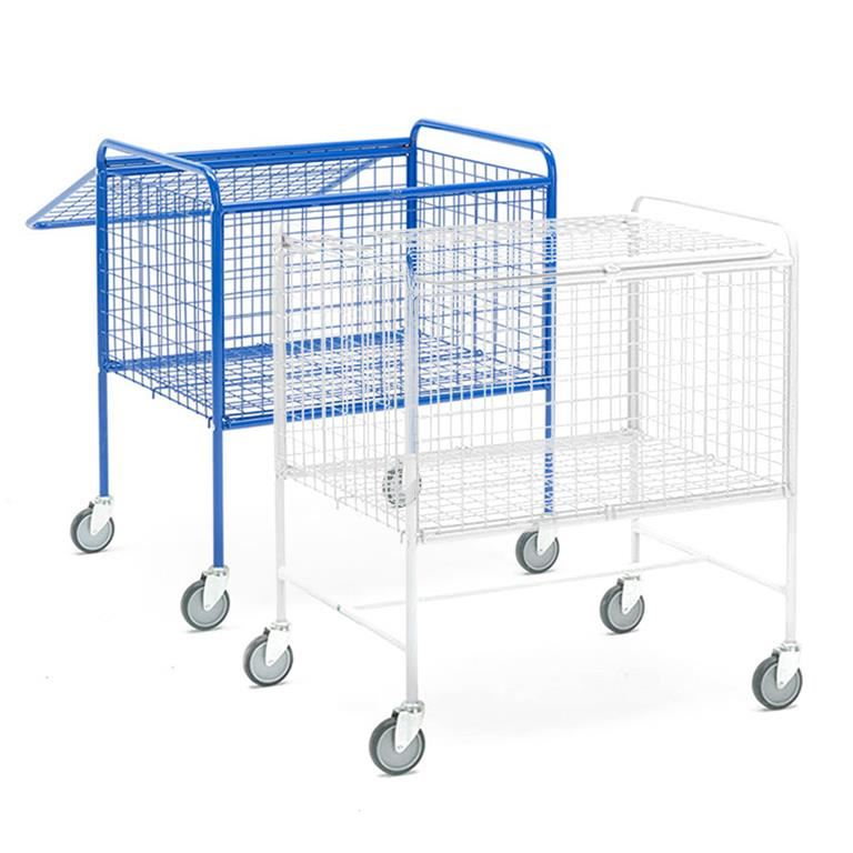 Lockable cage trolley