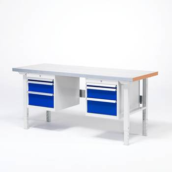 Workbench - Package deal with 2 drawer units and 6 drawers