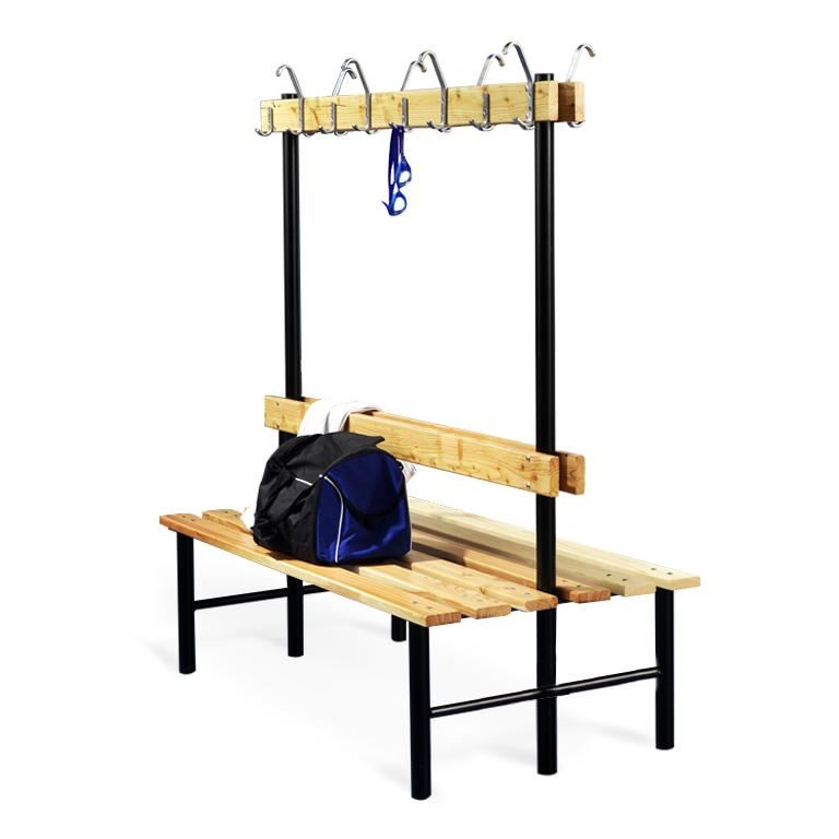 """""""Stabil"""" double bench with hook rail"""