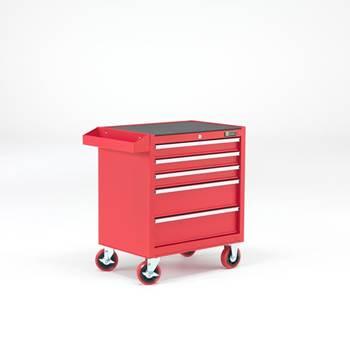 Czerwony wózek narzędziowy