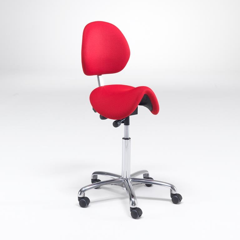 Saddle chair with backrest: fabric