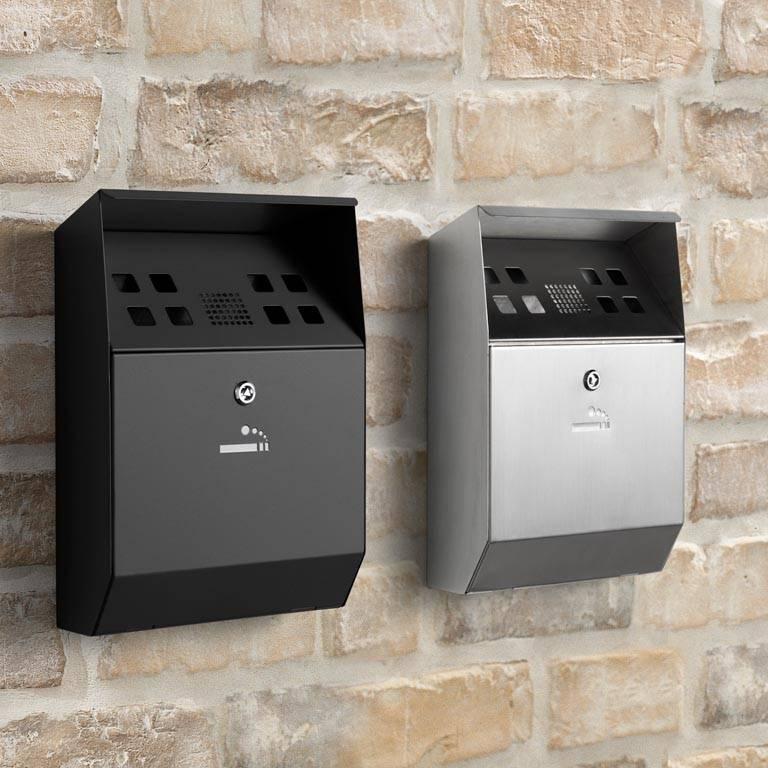 Wall-mounted ashtrays