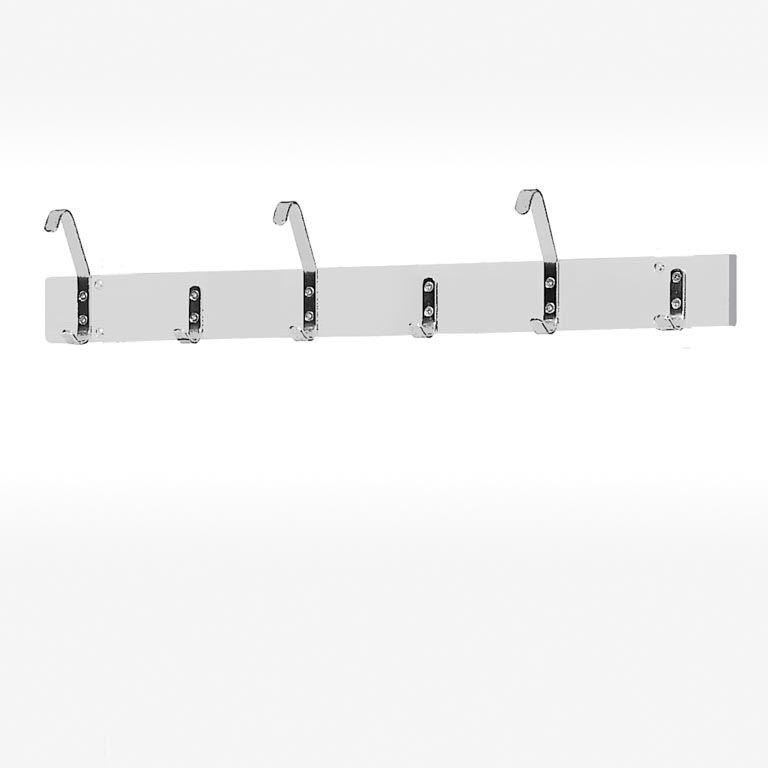 Hook rail: 6 / 8 /  12 hooks