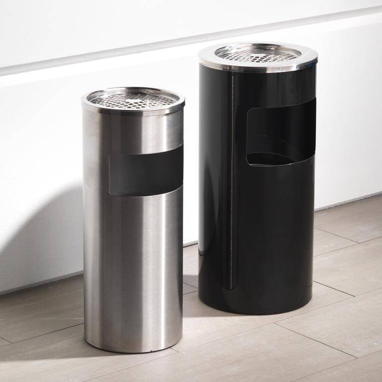 Waste bins with ashtray