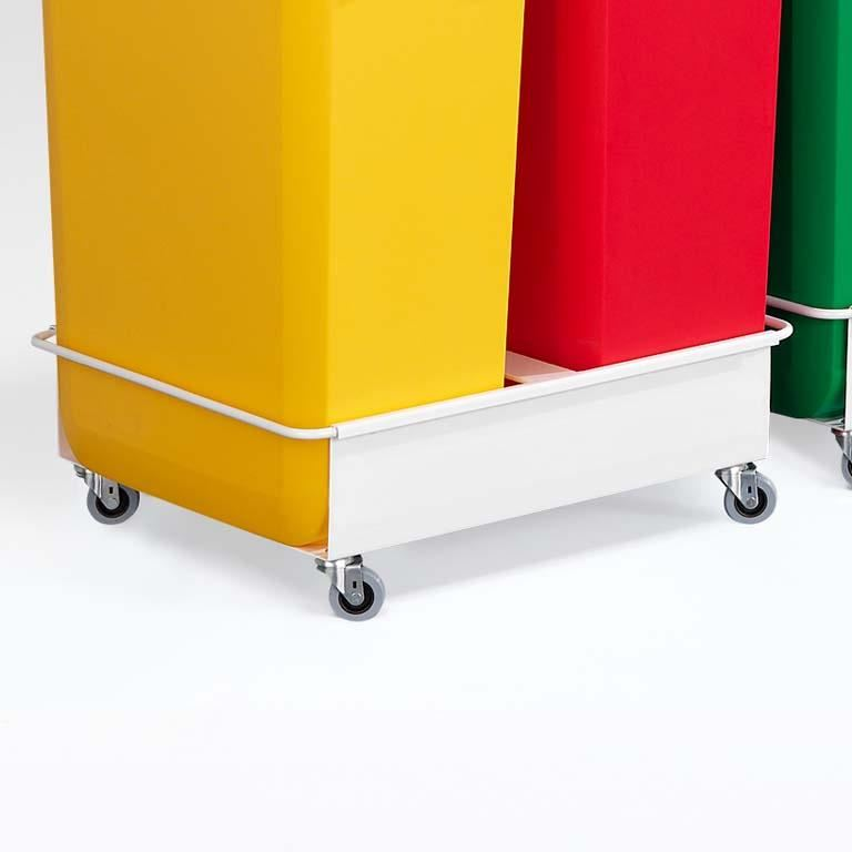 Refuse container trolley