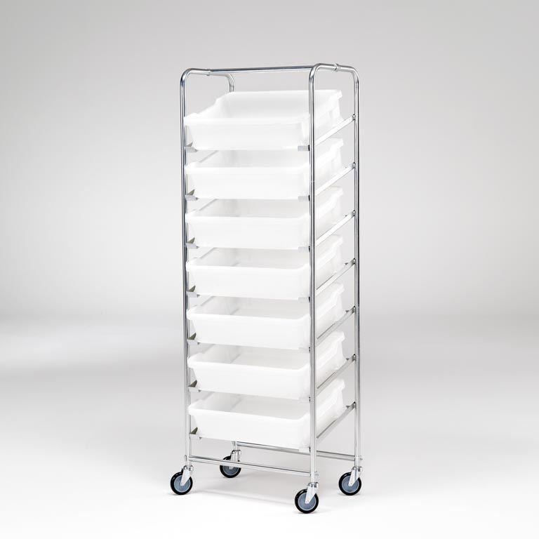 Vogn for Stablingsbare Plastkasser