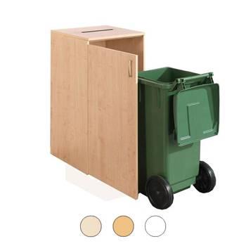Wheelie bin cabinet: paper slot