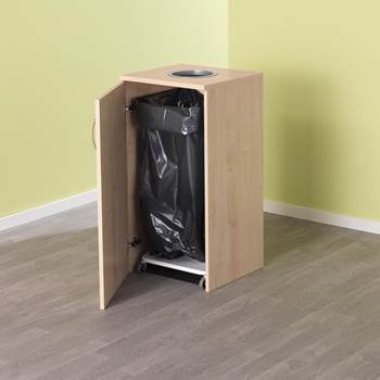 Waste cabinet for refuse sack stand