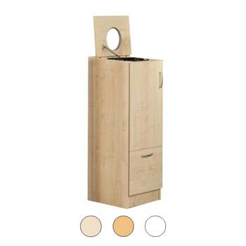 Waste sorting cabinet with lid and opening