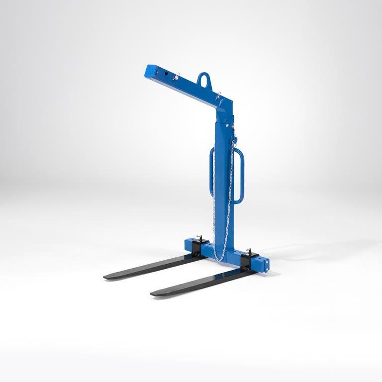 Self balancing crane forks
